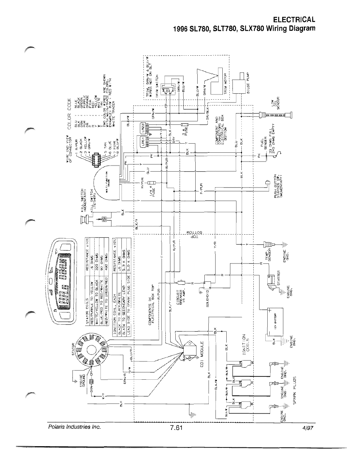 95 Polaris Slt 750 Wiring Diagram