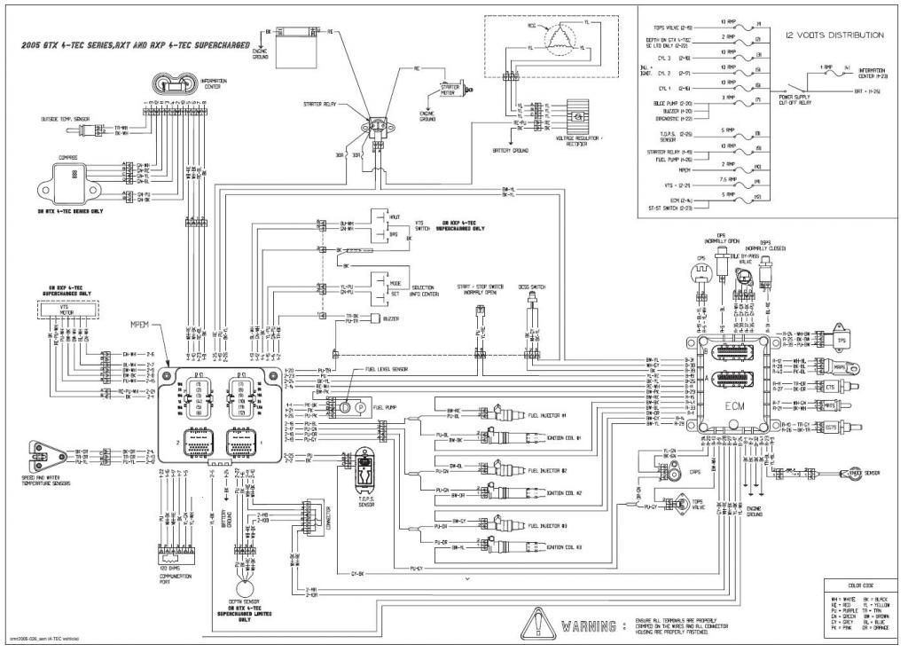 sea doo wiring diagram