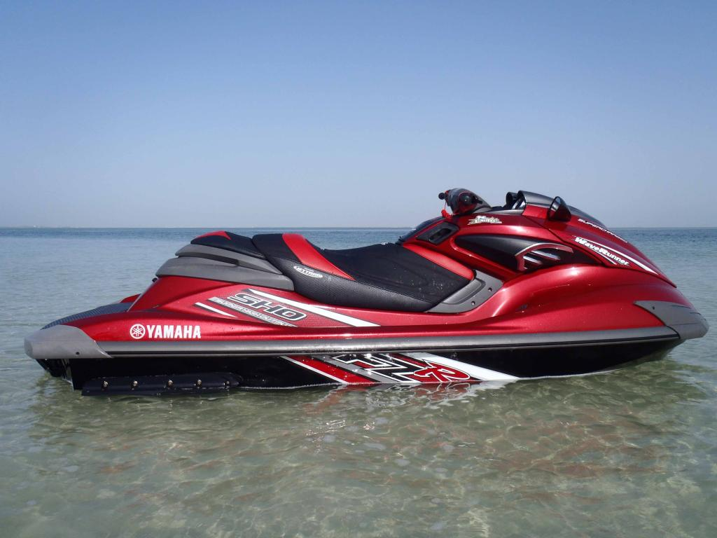 Seat covers on red fzs for Yamaha jet ski covers