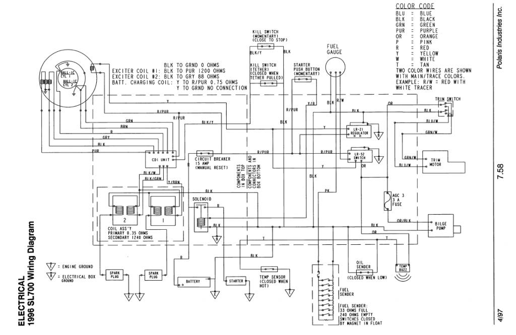 Delighted 1996 Seadoo Wiring Schematic Ideas - Electrical and ...