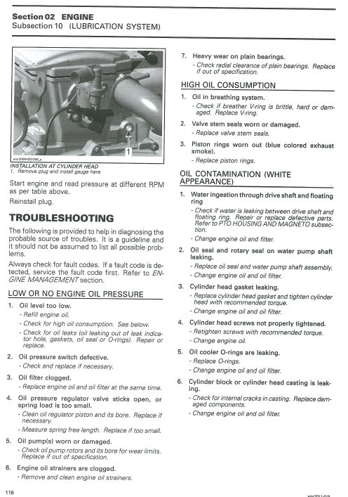 Seadoo RXTX 260 Low Oil Pressure - Page 2