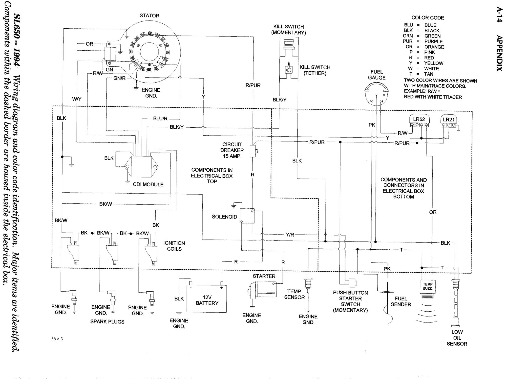 Sl 650 Kill Switch Intermittent Wiring Diagram On 1995 Kawasaki Jet Ski There Is Electronics To Hold The Ignition Until Engine Completely Stops It Inside Sealed Cdi Module