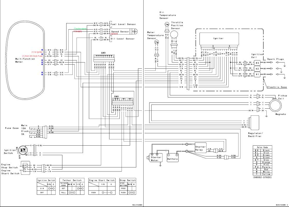 2002 STXR - Ultra 150 MFD conversion Kawasaki Ultra Wiring Diagram on