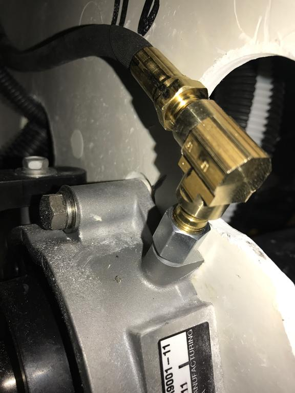 GP1800, extending the grease fitting for driveshaft