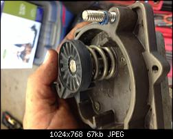 Click image for larger version.  Name:015 remove actuator arm and spring.jpg Views:69 Size:67.2 KB ID:335992