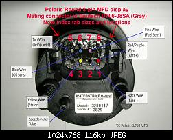Click image for larger version.  Name:Polaris round MFD 8-pin connector,  rear view Deutsch DT06-08SA (Gray) pin numbering b.jpg Views:58535 Size:116.4 KB ID:234152