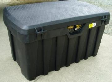 Plastic Truck Storage Box Mounted On Pwc Trailer
