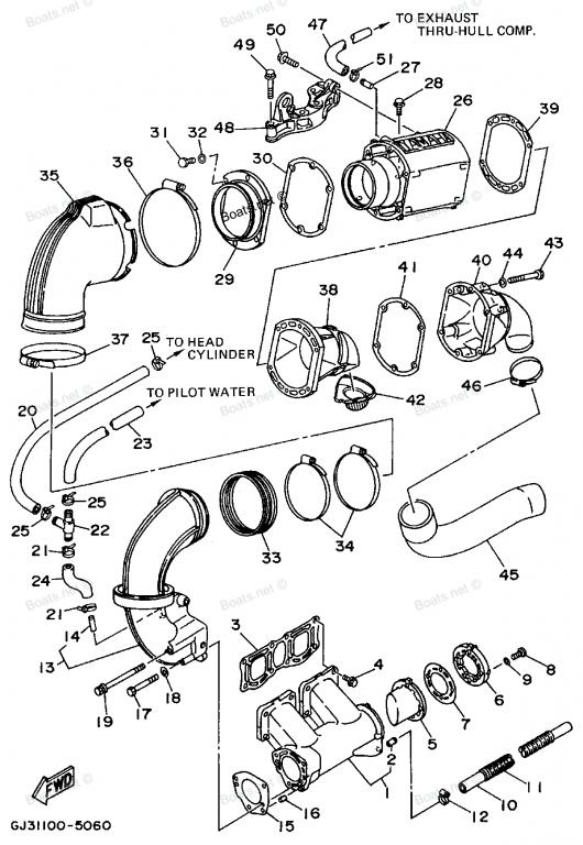 Yamaha Waverunner Exhaust Diagram