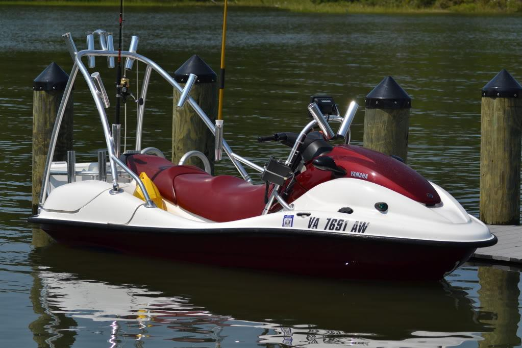 Rigging another jet ski for fishing for Fishing jet ski for sale