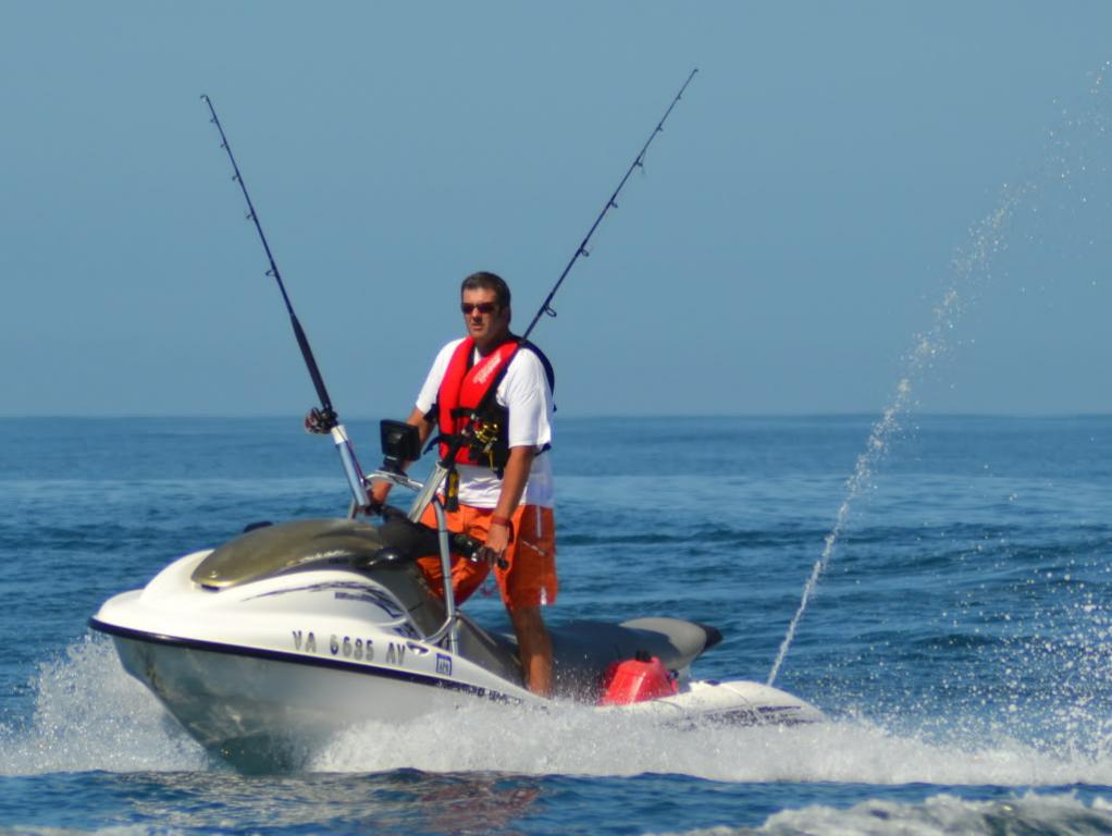 4 Jet Skis Fishing 30 Miles Offshore Oregon Inlet Nc
